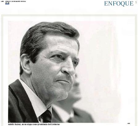 La mirada de Adolfo Suárez en #másqueunafoto